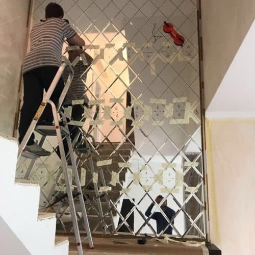 Фацетная композиция на стену