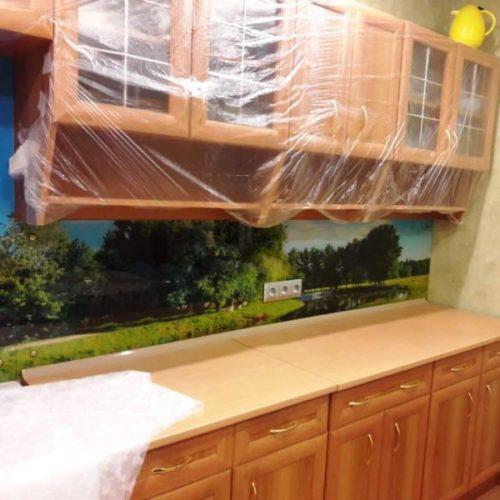 Фартук для кухни из закаленного осветленного стекла толщиной 6 мм с фотопечатью пейзаж1
