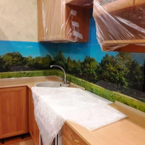 Фартук для кухни из закаленного осветленного стекла толщиной 6 мм с фотопечатью пейзаж2