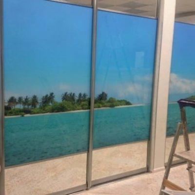 Двери купе из стекла