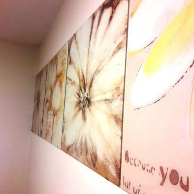 Модульная картина с фотопечатью цветы на закаленном осветленном стекле