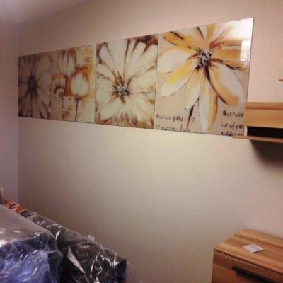 Модульная картина с фотопечатью цветы на закаленном осветленном стекле1