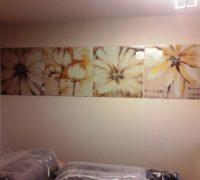 Модульная картина с фотопечатью цветы на закаленном осветленном стекле2