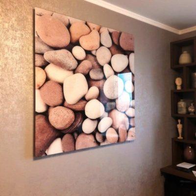 Настенное панно из закаленного стекла с фотопечатью Морские камни