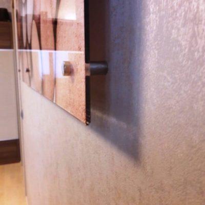 Настенное панно из закаленного стекла с фотопечатью Морские камни1