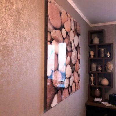 Настенное панно из закаленного стекла с фотопечатью Морские камни2