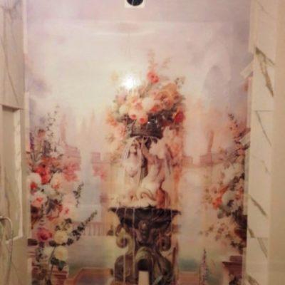 Настенное панно с уф-фотопечатью на закаленном осветленном стекле толщиной 6 мм огромного размера 2523х1593 одним полотном1