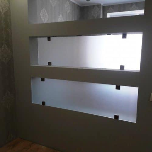 Стекла для ниши для зонирования пространства комнаты1