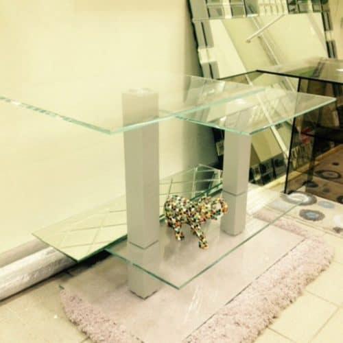 Столик из безцв закаленного стекла 6 мм 1000 х 600 х 700