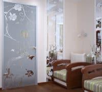 Стеклянные двери 6